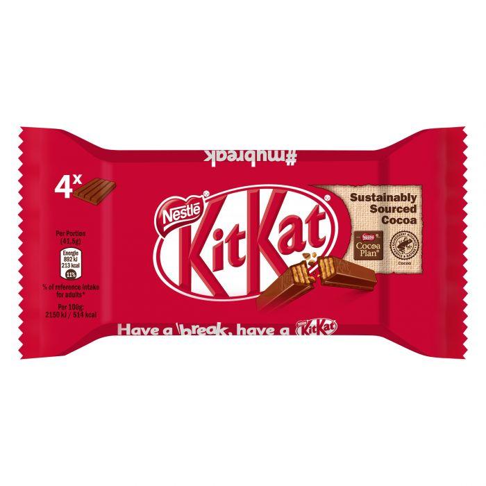 NESTLÉ KitKat Schokoriegel mit knackiger Waffel (1 x 4 x 41,5g)