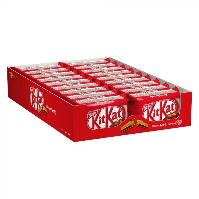 NESTLÉ KitKat Schokoriegel mit knackiger Waffel (18 x 4 x 41,5g)